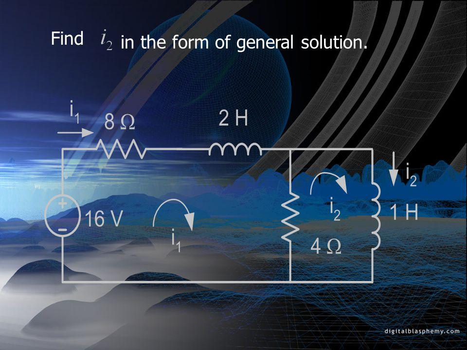 The Complete Response Complete Response ได้จาก Natural Response + Forced Response โดยที่ ค่าคงที่ของ Natural Response มีค่า ซึ่ง หาได้จาก Initial Conditions ie.