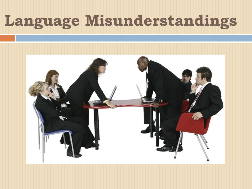 Language Misunderstandings