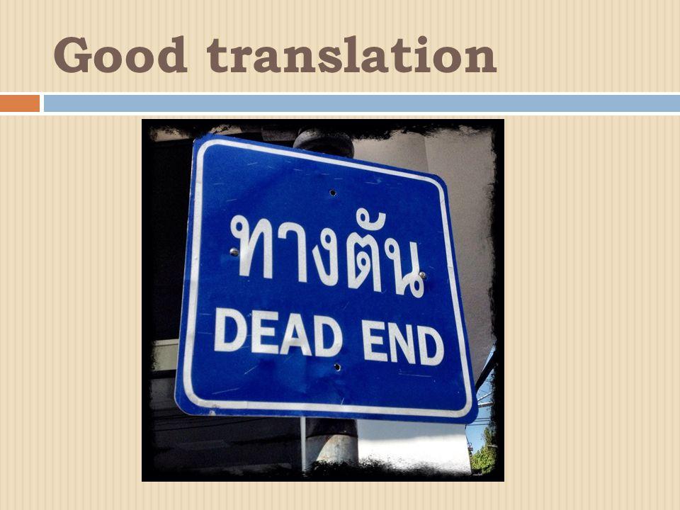 Good translation