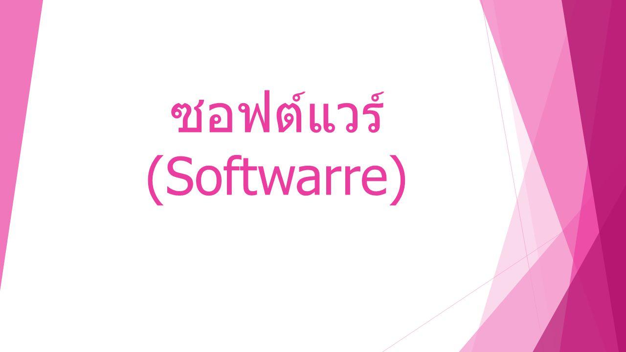  ความจำเป็นของการใช้ ซอฟต์แวร์  ซอฟต์แวร์ ภาษาคอมพิวเตอร์