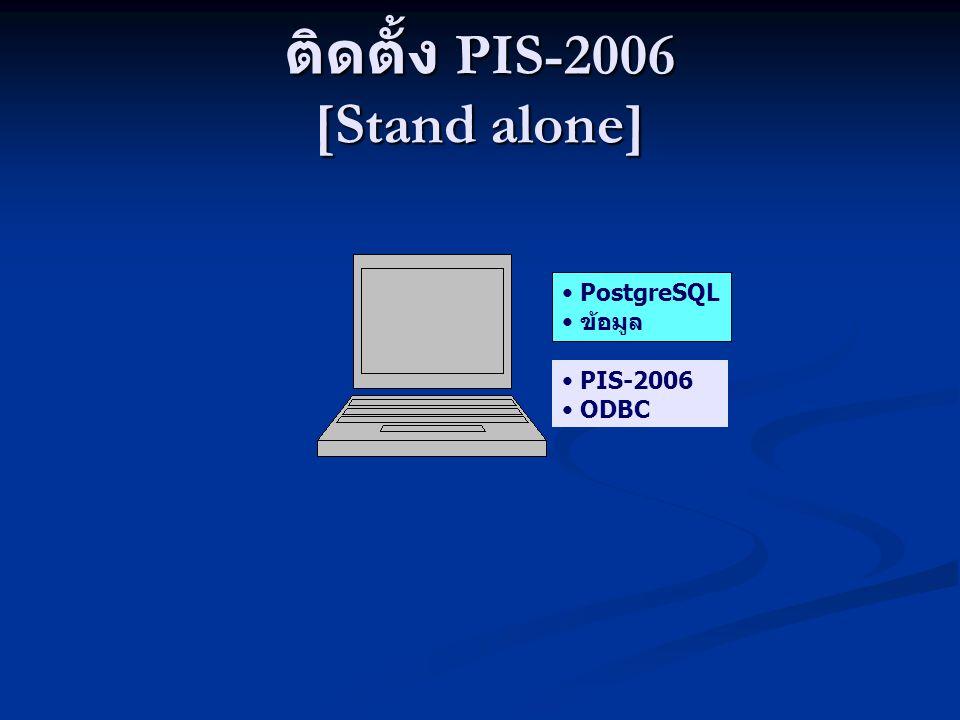 ติดตั้ง PIS-2006 [Stand alone] PostgreSQL ข้อมูล PIS-2006 ODBC