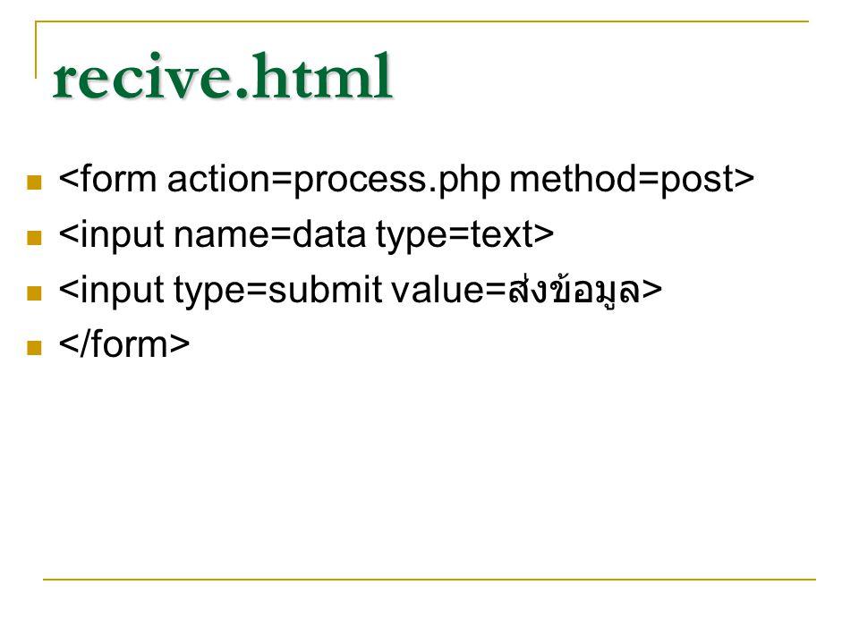 process.php ต้องใช้ ฟังก์ชัน stripslashes($_POST[' ตัวแปรที่อยู่ใน tag name ]); เช่นใน จะต้องใช้ stripslashes($_POST['abc ]);