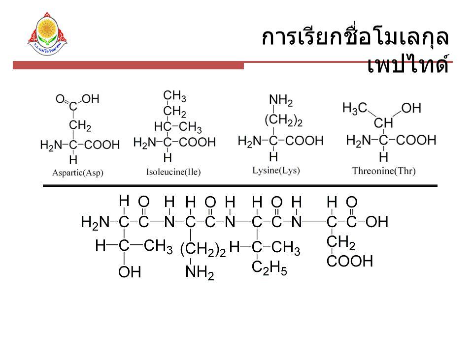 การเรียกชื่อโมเลกุล เพปไทด์