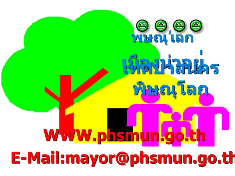พิษณุโลก เมืองน่าอย ู่ เทศบาลนคร พิษณุโลก WWW.phsmun.go.thE-Mail:mayor@phsmun.go.th