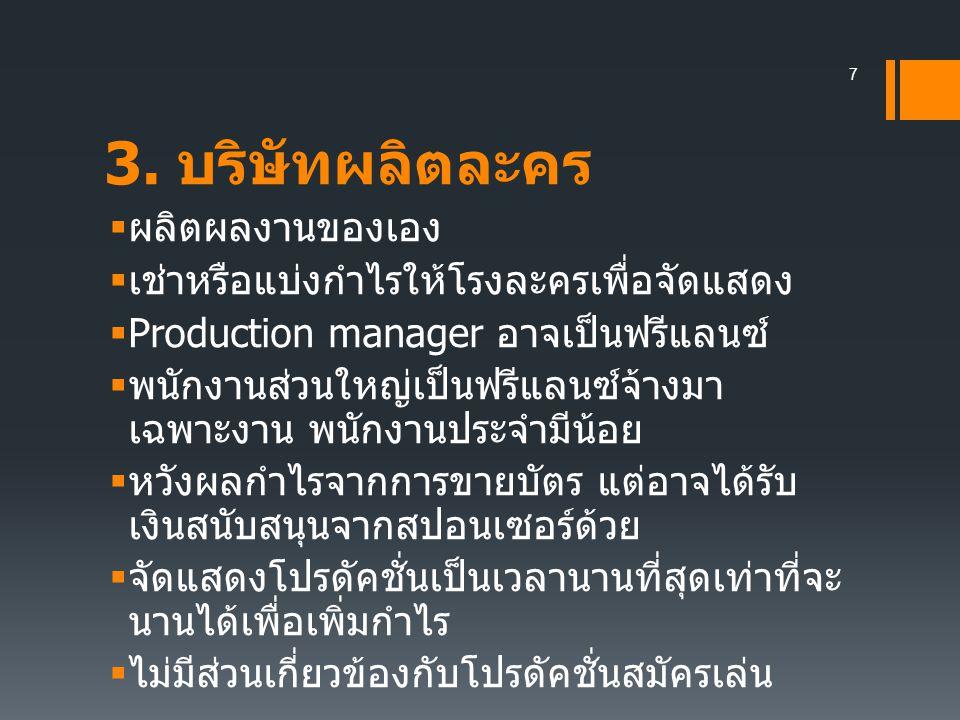 บริษัทผลิตละครโทรทัศน์และ บริษัทผลิตภาพยนตร์ ? 8
