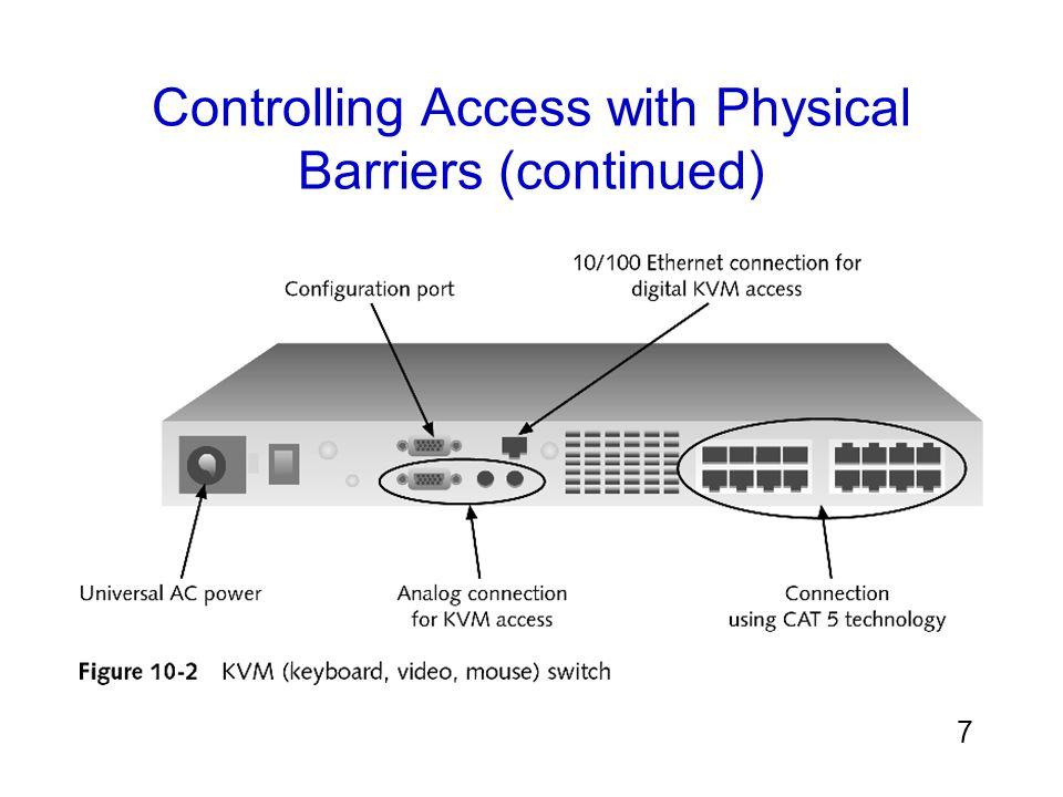 8 นอกจากการรักษาความปลอดภัยของอุปกรณ์แล้ว ควรมีการ รักษาความปลอดภัยห้องที่มีอุปกรณ์เหล่านี้อยู่ด้วย พื้นฐานของการล็อคประตูต้องใช้คีย์ มีสองชนิดคือ: การล็อคประตู (ปุ่มในการล็อคปุ่ม) ต้องใช้เพียงปุ่มสำหรับ ปลดล็อคประตูจากด้านนอกเท่านั้น ล็อค deadbolt เป็นแถบโลหะที่เป็นของแข็งเป็นกรอบประตู สำหรับการรักษาความปลอดภัยพิเศษ