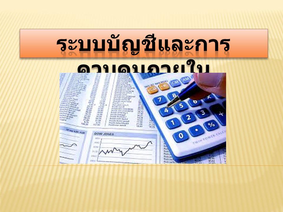 ความหมายของระบบ บัญชี (Accounting System หมายถึง ระบบการจัดเก็บ รวบรวมข้อมูลทางการเงินที่เป็น เอกสารต่างๆ ทางด้านบัญชี รายงานทางการเงินที่เป็นหลักฐาน ด้านบัญชี วิธีการตลอดจนเครื่อง ต่าง ๆ ที่ใช้ในการบันทึกบัญชีที่ได้ นำมาใช้ในการรวบรวมข้อมูล เกี่ยวกับการดำเนินงาน