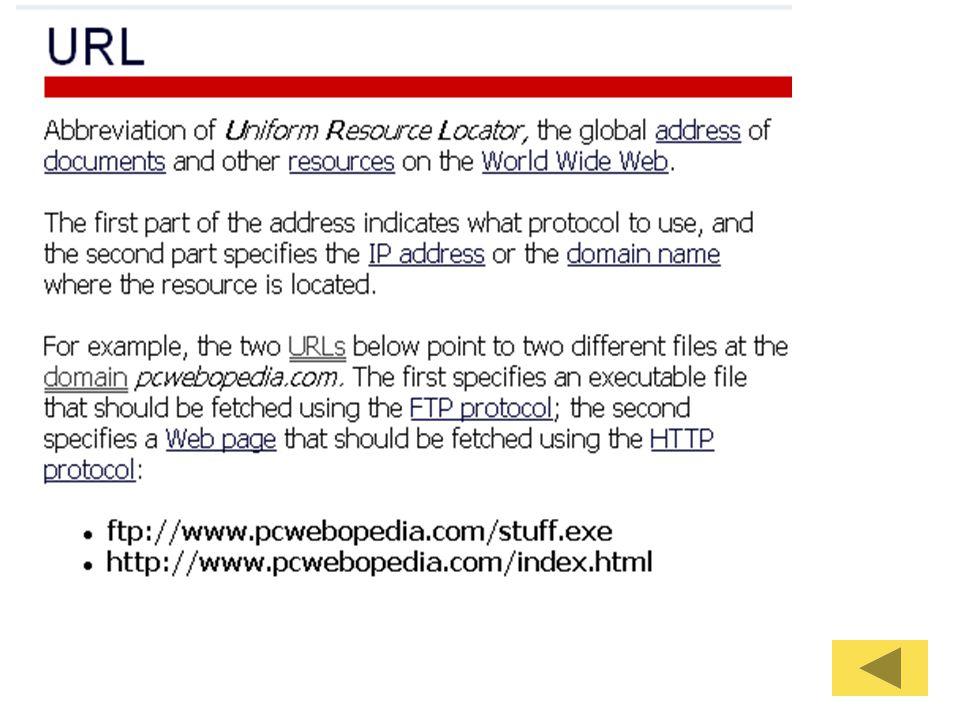 Glossary ตัวอย่างคำ –BROWSERS –CGI –COOKIE –DOMAIN NAME, DOMAIN NAME SERVER (DNS)ENTRY –TCP/IP –IP Address http://www.lib.berkeley.edu/TeachingLib/ Guides/Internet/Glossary.htmlhttp://www.lib.berkeley.edu/TeachingLib/ Guides/Internet/Glossary.html