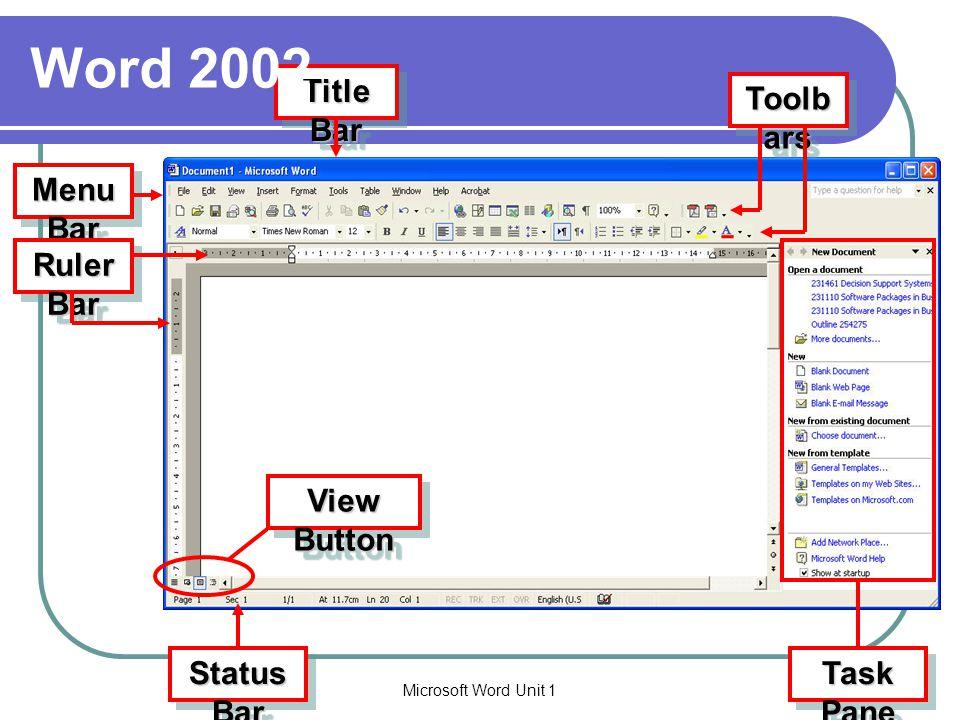 Microsoft Word Unit 15 การจัดการแฟ้มเอกสาร การสร้างเอกสารใหม่ (New) การเก็บบันทึกเอกสาร (Save) การเปิดเอกสาร (Open) การปิดเอกสาร (Close) การแทรกข้อความ