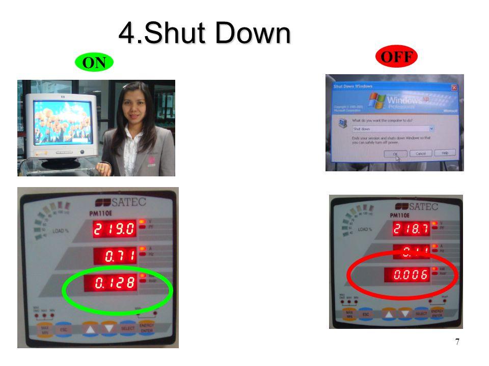 7 4.Shut Down ON OFF