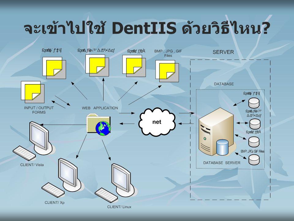 จะเข้าไปใช้ DentIIS ด้วยวิธีไหน?