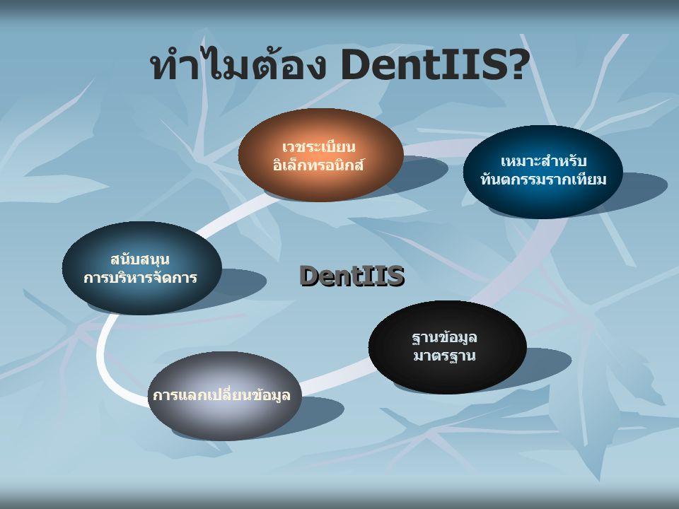 ทำไมต้อง DentIIS.
