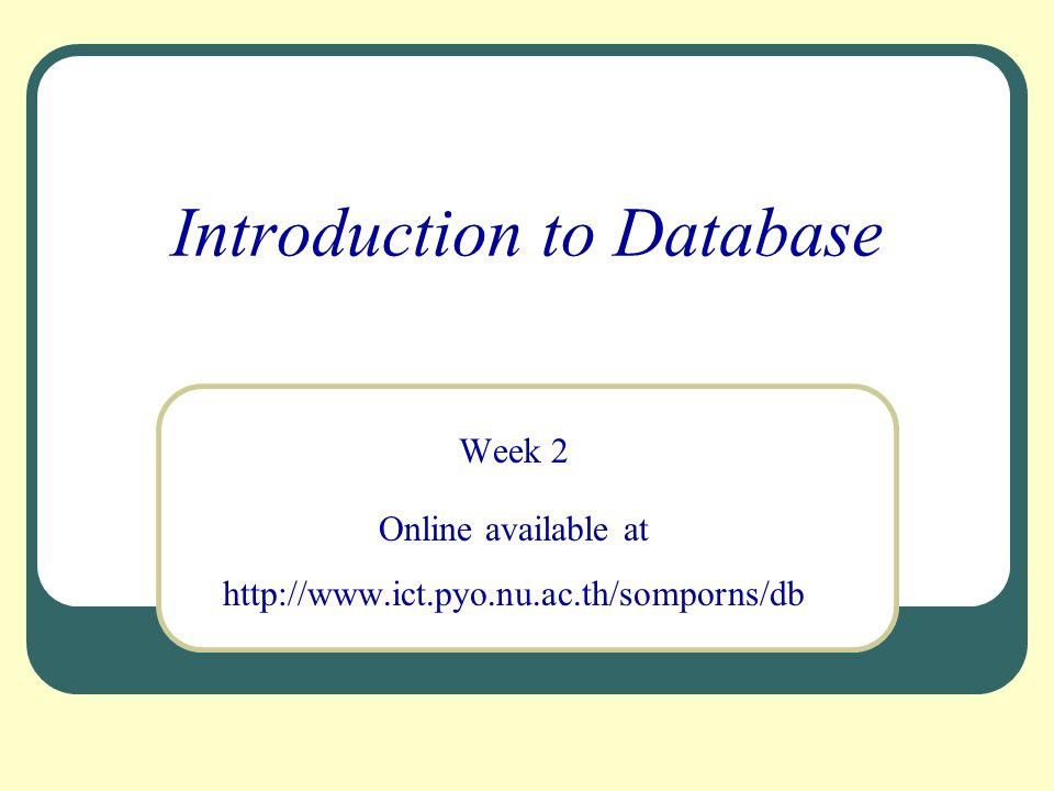 12 Schema เปรียบเหมือนพิมพ์เขียวของฐานข้อมูล โดยจะมี 3 ลักษณะตามโครงร่างของฐานข้อมูล ซึ่ง ระดับสูงสุดหรือ โครงร่างระดับภายนอก (External Level) เรียกว่า External Schema หรือ subschema ระดับแนวคิด หรือ โครงร่างระดับแนวคิด (Conceptual Level) เรียกว่า Conceptual Schema ระดับต่ำสุด หรือโครงร่างระดับภายใน (Internal Level) เรียกว่า Internal Schema สคีมา (Schema) การแปลงรูป (Mapping) และอินสแตนซ์ (Instance)