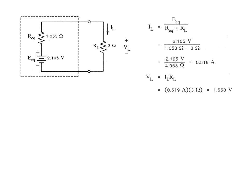 ตัวอย่างที่ 5 จงใช้ทฤษฎีมิลล์แมนเพื่อหากระแสที่ไหลผ่านและแรงดันตกคร่อมตัวต้านทาน R 3 วิธีทำ