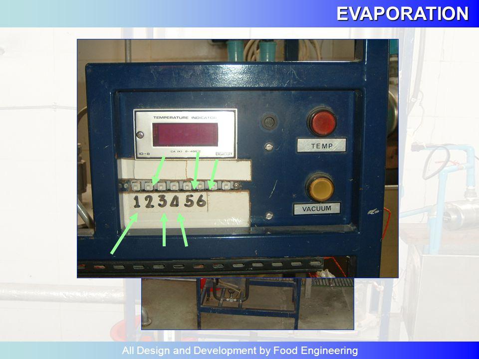 CLIMBING EVAPORATION All Design and Development by Food Engineering ปิดวาล์ว V1-V8 และ control valve C1-C6