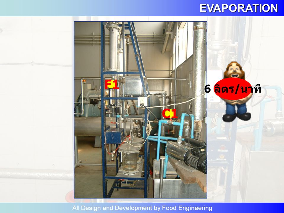 EVAPORATION All Design and Development by Food Engineering การคำนวณ