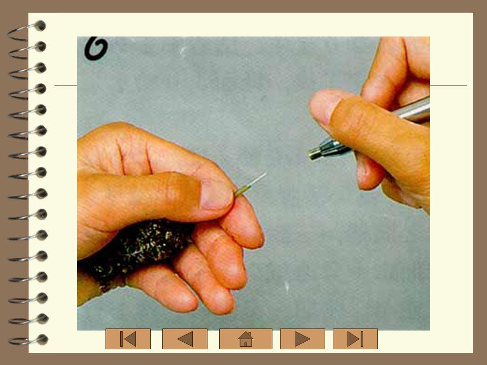 4. นำส่วนของกิ่งพันธุดีมาเสียบ ลงแท่งลวดอีกด้านหนึ่งของต้น ตอ