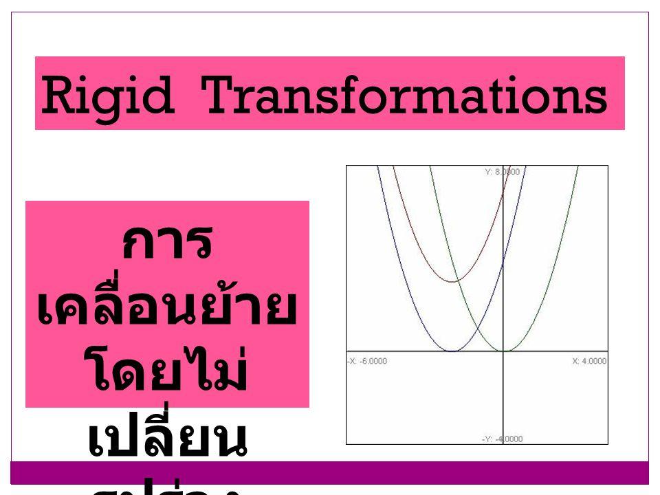 Rigid Transformations การ เคลื่อนย้าย โดยไม่ เปลี่ยน รูปร่าง