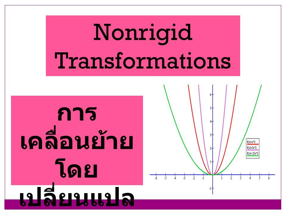 Nonrigid Transformations การ เคลื่อนย้าย โดย เปลี่ยนแปล งรูปร่าง