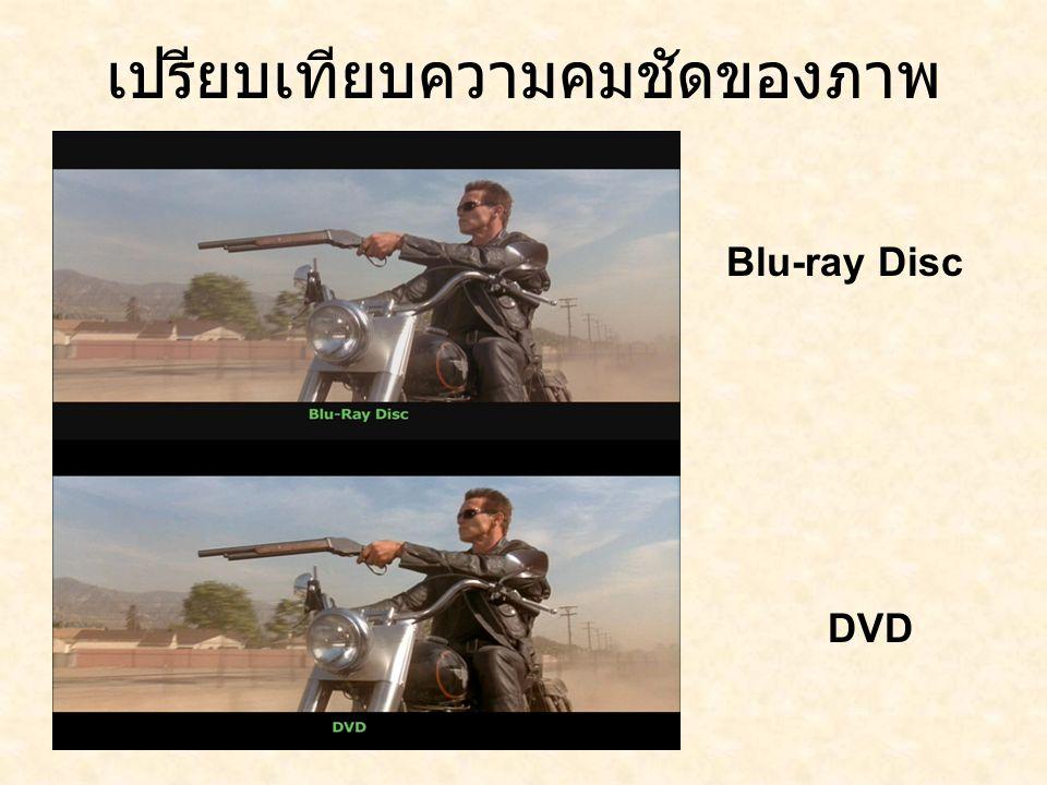 เปรียบเทียบความคมชัดของภาพ Blu-ray Disc DVD