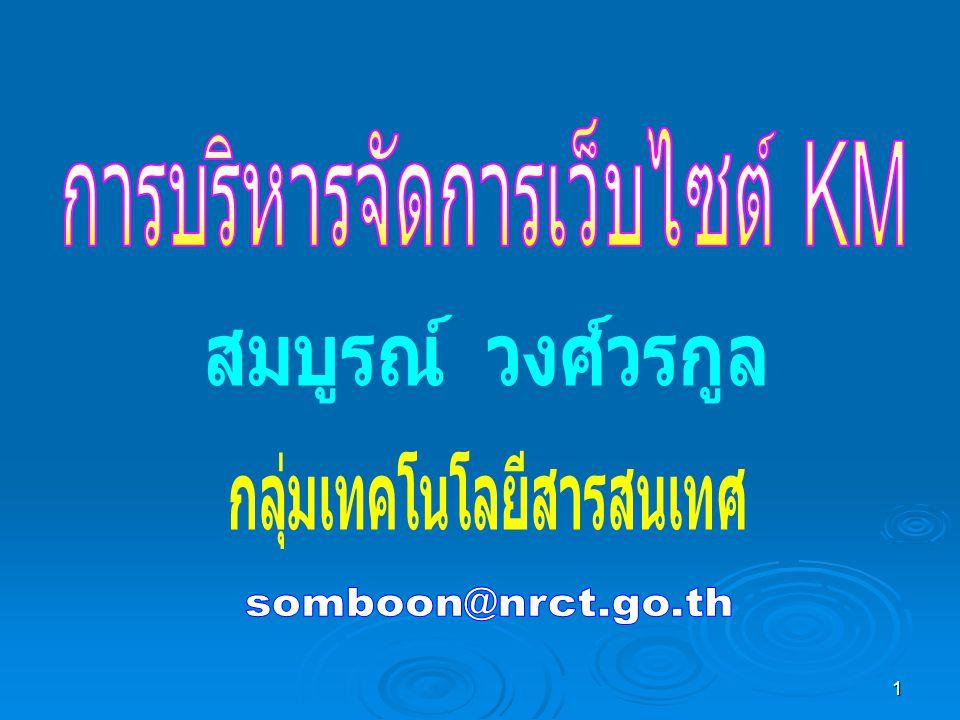 12..NRCT KM Web Site ปัจจุบัน....NRCT KM Web Site ปัจจุบัน..