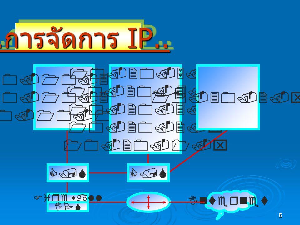 5.. การจัดการ IP....การจัดการ IP..