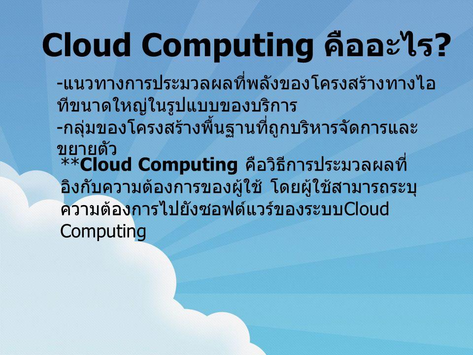 Cloud Computing คืออะไร .
