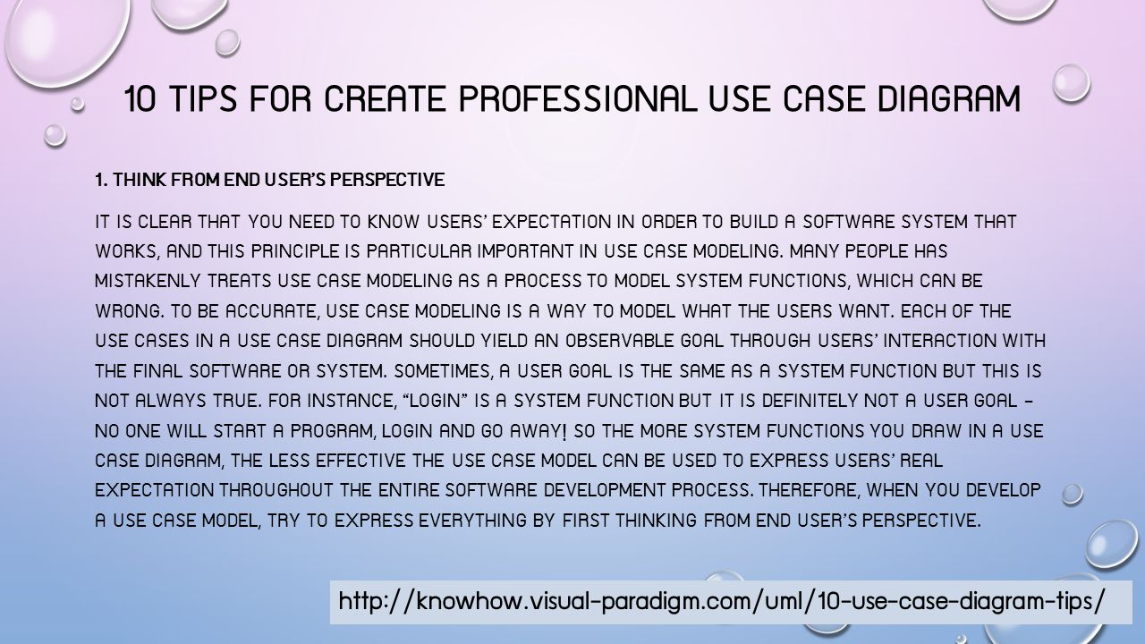 10 TIPS FOR CREATE PROFESSIONAL USE CASE DIAGRAM 2.