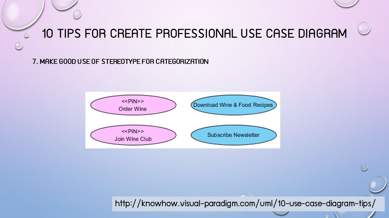 10 TIPS FOR CREATE PROFESSIONAL USE CASE DIAGRAM 8.