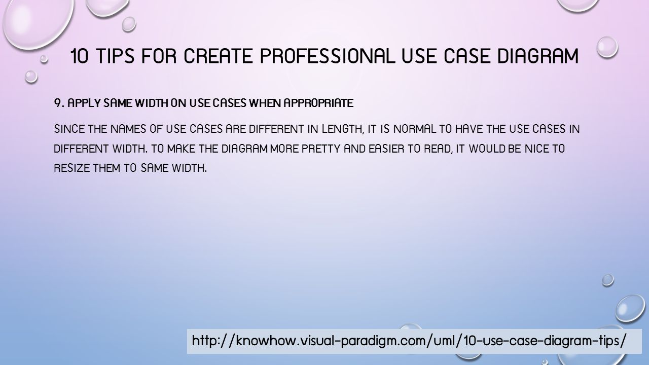 10 TIPS FOR CREATE PROFESSIONAL USE CASE DIAGRAM 10.