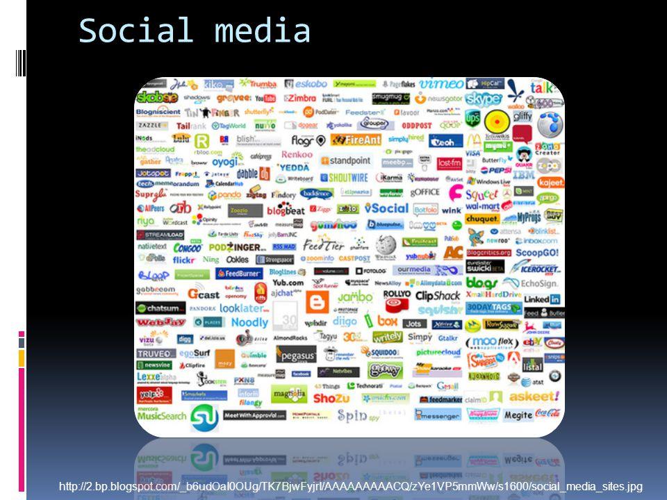 Social media http://2.bp.blogspot.com/_b6udOaI0OUg/TK7BjwFyjrI/AAAAAAAAACQ/zYe1VP5mmWw/s1600/social_media_sites.jpg