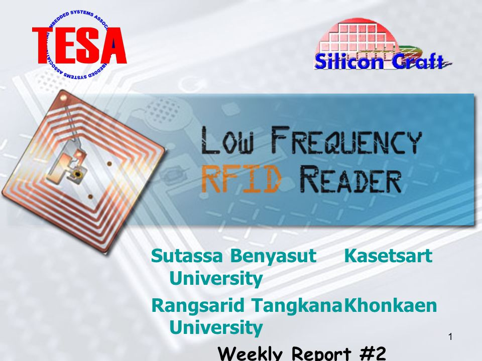 1 Sutassa BenyasutKasetsart University Rangsarid TangkanaKhonkaen University Weekly Report #2