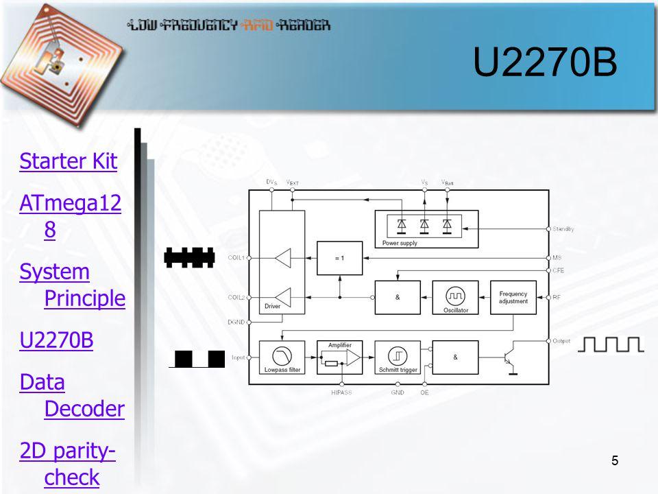 5 U2270B Starter Kit ATmega12 8 System Principle U2270B Data Decoder 2D parity- check ความ คืบหน้า