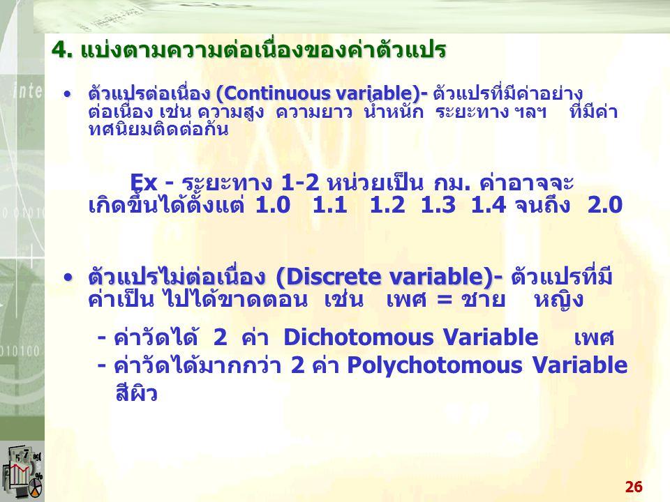 ตัวแปรบิดเบือน (Distorter Variables) 6 (+) (-) ตัวแปรบิดเบือน ตัวแปรอิสระ ตัวแปรตาม 25 ตัวแปรทดสอบ เป็นตัวแปรที่ทำ ให้ความสัมพันธ์ ระหว่างตัวแปรอิสระแ