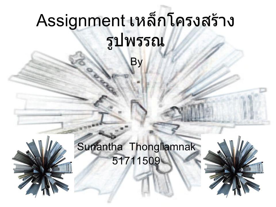 Assignment เหล็กโครงสร้าง รูปพรรณ By Sunantha Thongliamnak 51711509