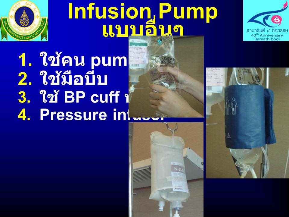ชนิดของ Infusion Pump แบ่งตามกลไกการ ทำงาน  Drop-counting pump นับหยด  Volumetric pump คำนวณ ปริมาตร 1.