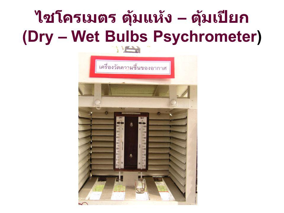 ไซโครเมตร ตุ้มแห้ง – ตุ้มเปียก (Dry – Wet Bulbs Psychrometer)