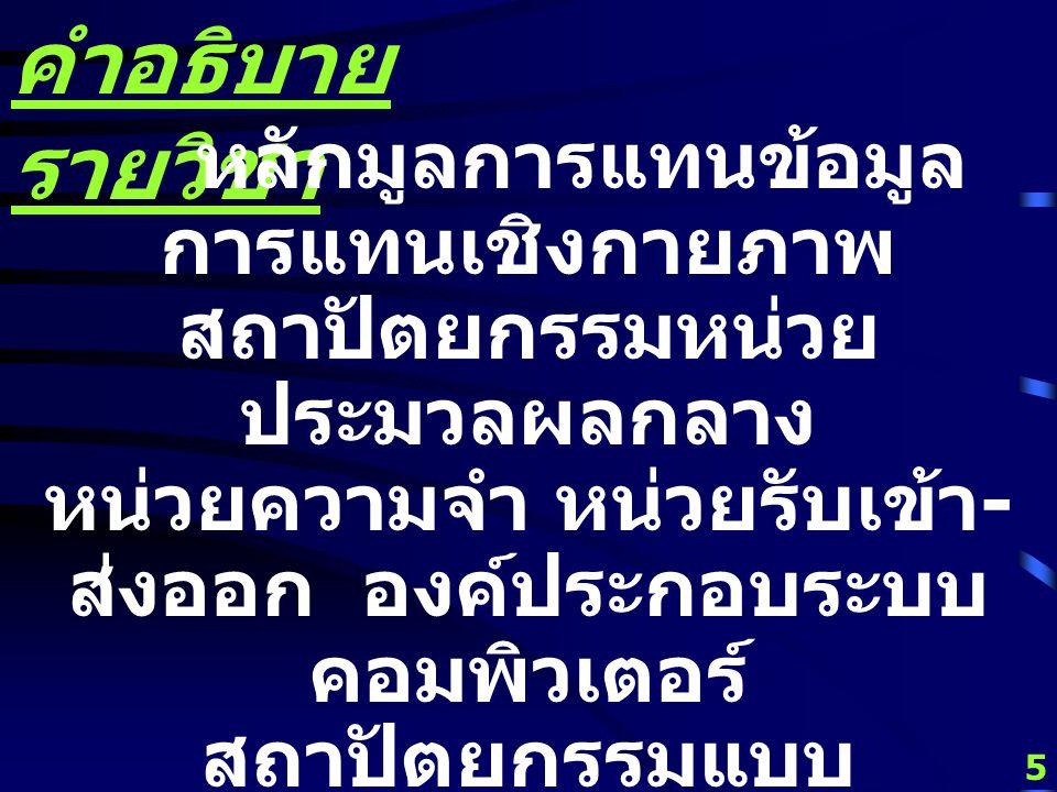 4 เวลา เรียน ปกติ TT 9:00 - 10:30 น. SC.6103 สมทบ MW 16:30 - 18:00 น. UNIT-A