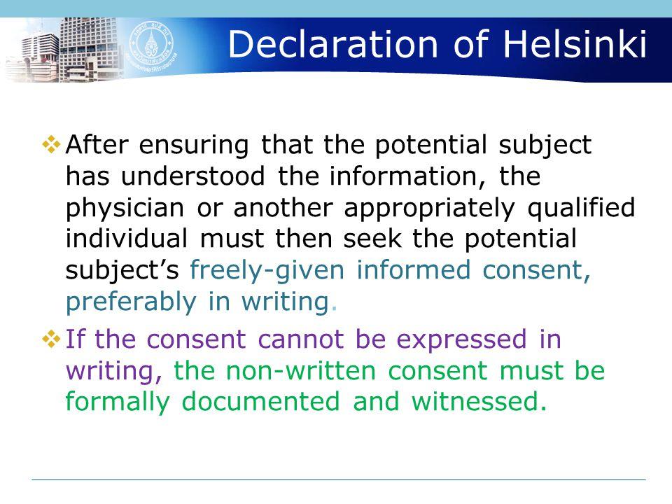 Declaration of Helsinki 26.