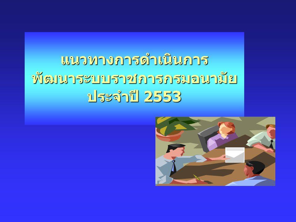 แนวทางการดำเนินการ พัฒนาระบบราชการกรมอนามัย ประจำปี 2553