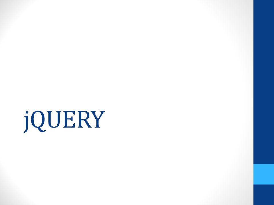 jQuery คือ JavaScript Platform หรือ JavaScript Library Library ที่ถูกเขียนขึ้นจาก JavaScript เพื่อลดขั้นตอนสนองการพัฒนา เว็บไซต์ในรูปแบบใหม่ การโต้ตอบกับ ผู้ใช้งานได้อย่างมีประสิทธิภาพ