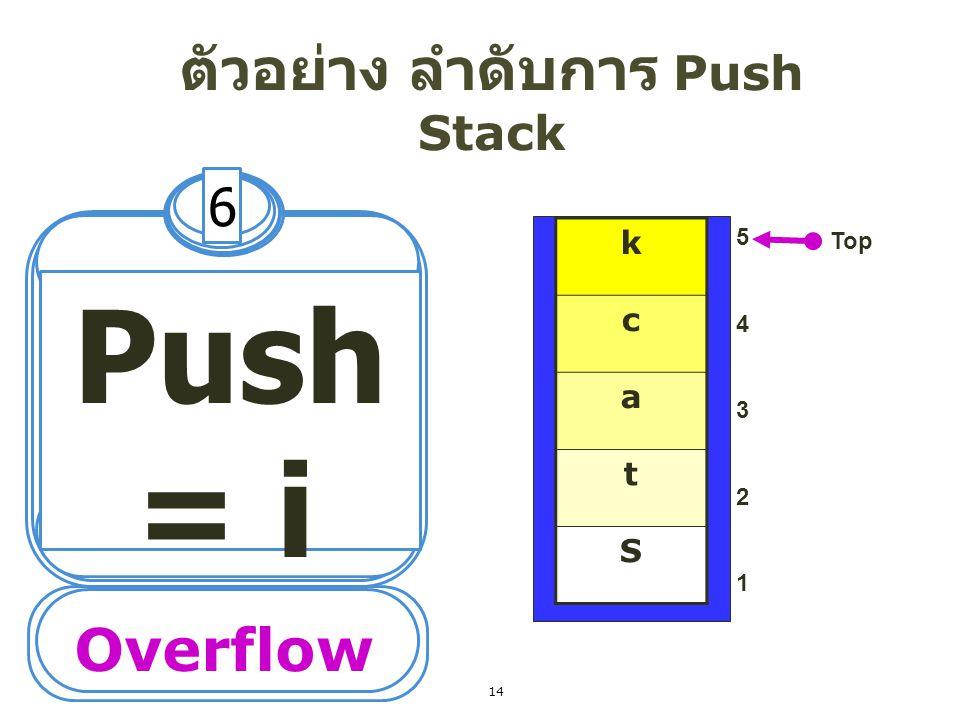 ตัวอย่างการ Pop ข้อมูลออก จาก stack 15