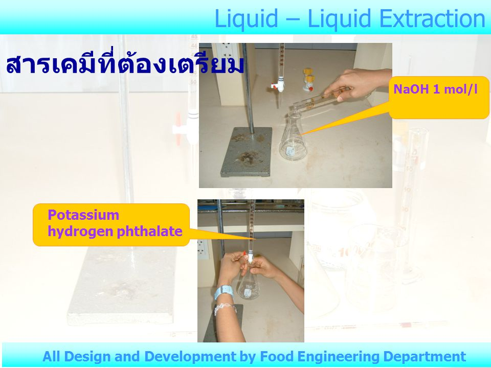 Liquid – Liquid Extraction All Design and Development by Food Engineering Department 3.