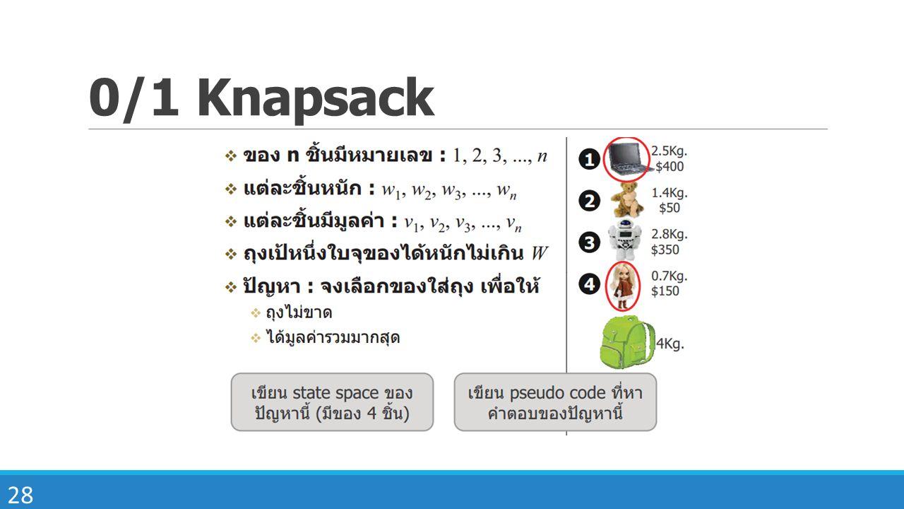 28 0/1 Knapsack