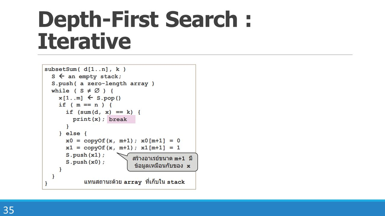 35 Depth-First Search : Iterative