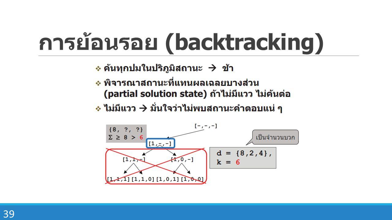 39 การย้อนรอย (backtracking)