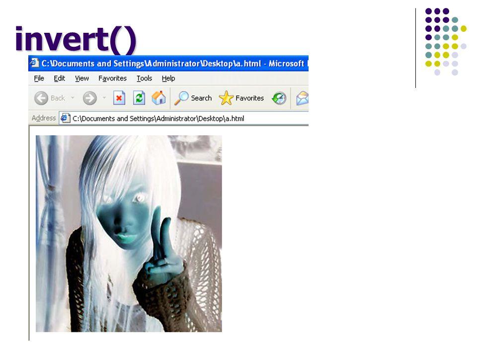 invert()