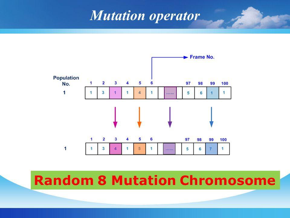 Mutation operator Random 8 Mutation Chromosome