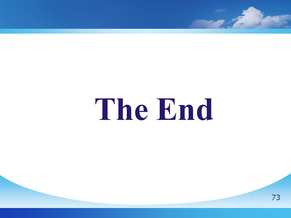 The End 73