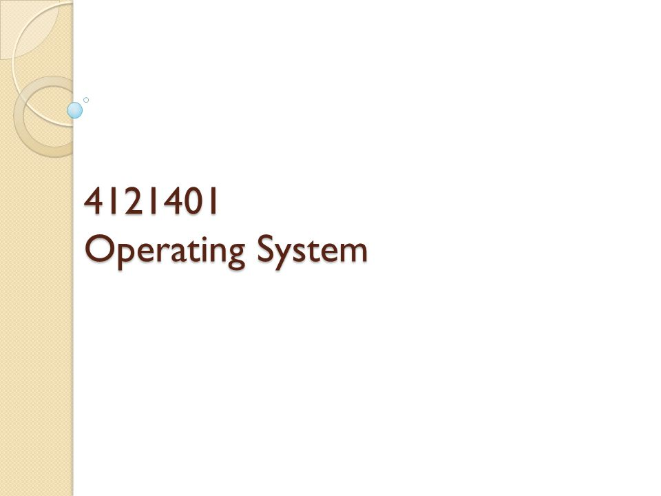 4121401 Operating System